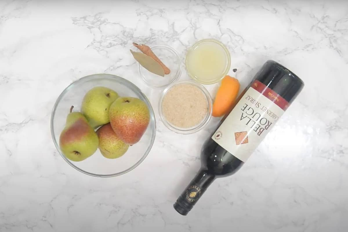 Red Wine Poached Pears Ingredients