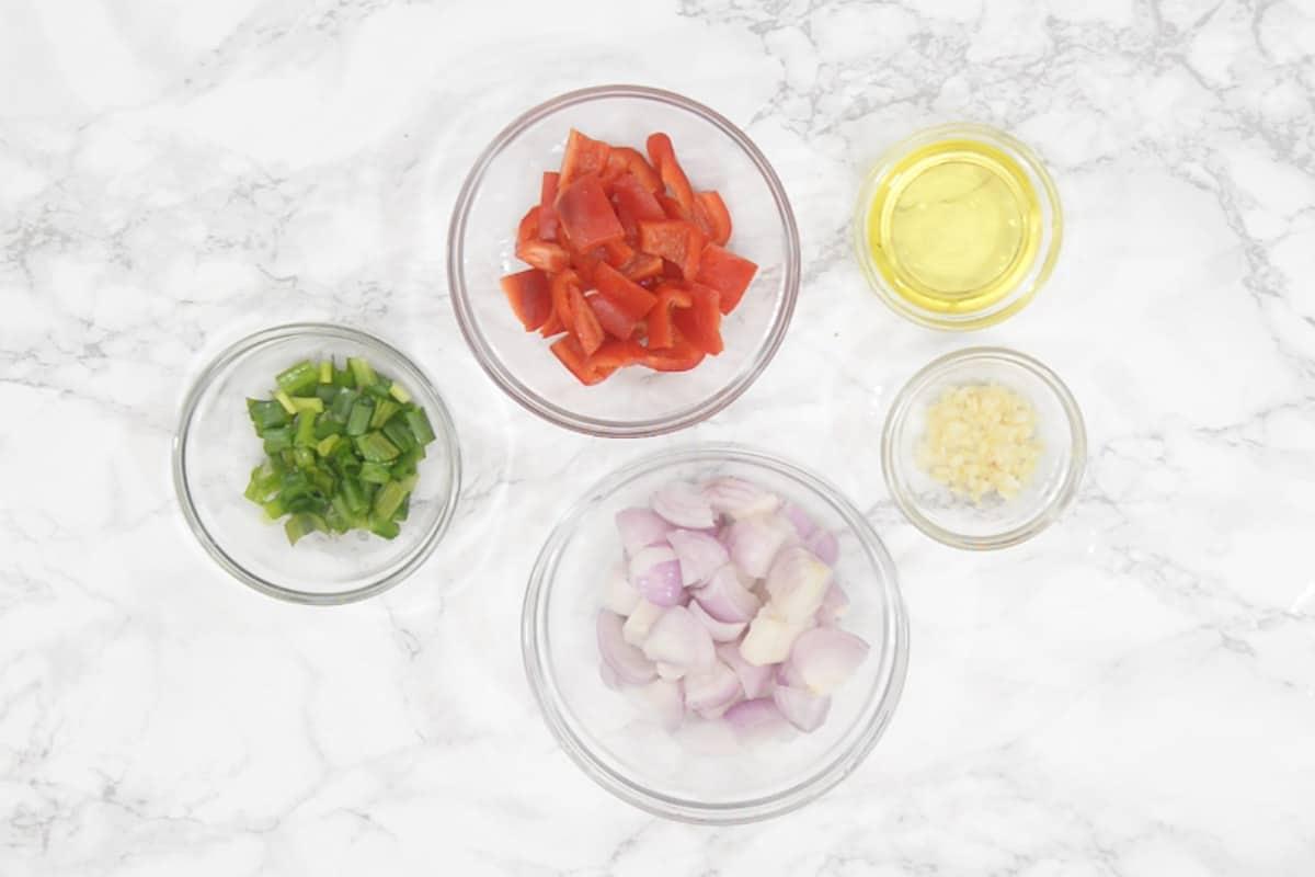 Cashew Chicken Stir fry ingredients.
