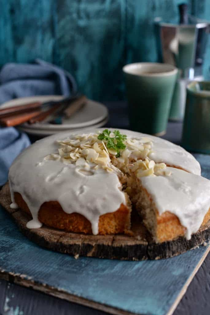 One Bowl Almond Olive Oil Cake with Lemon Sugar Glaze ...