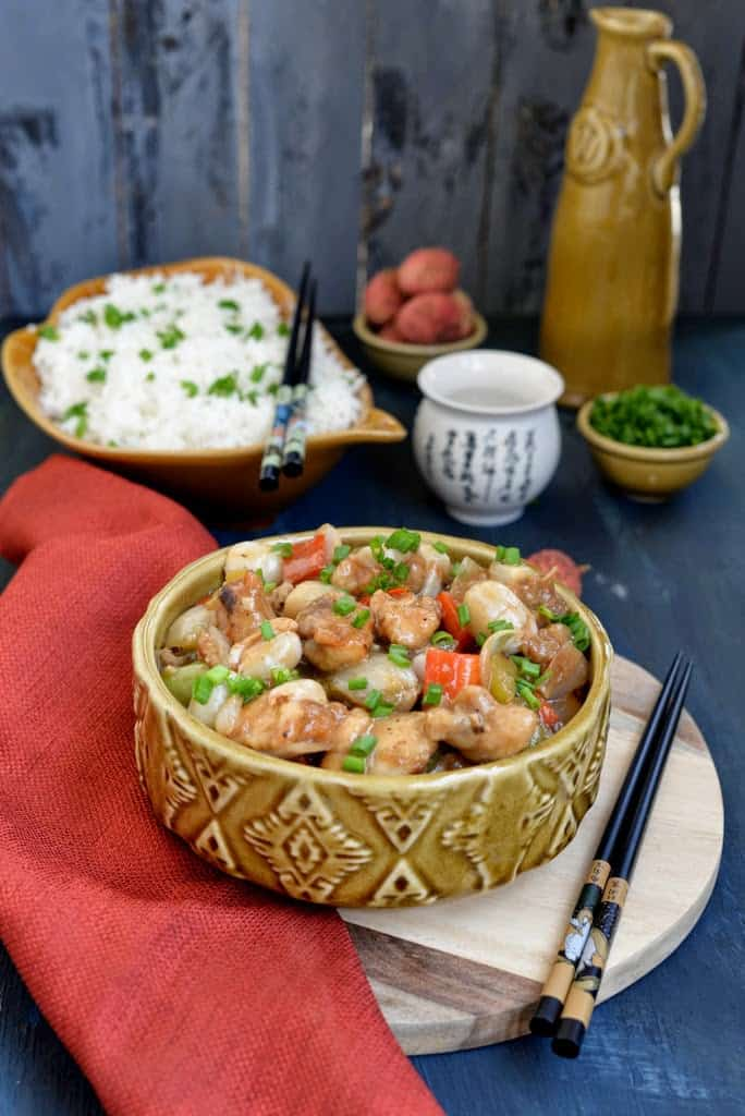 Chinese Style Lychee Chicken Recipe, How to make Chinese Style Lychee Chicken or Sweet and Sour Litchi Chicken