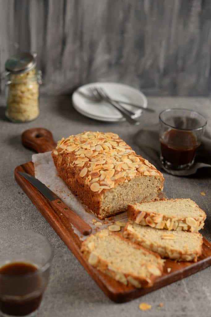 Almond Crunch Banana Bread recipe