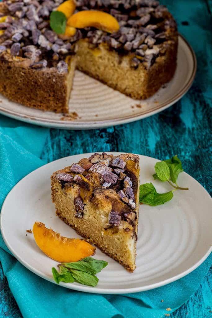 Peach Pecan Coffee Cake