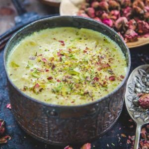 Sabudana Kheer or Sago Kheer is the commonest type of sweet dish, enjoyed during the fasting period, as well during celebrations and festivals.