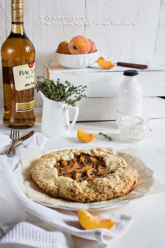 Spiced Peach Rum Galette Recipe, How to make Spiced Peach Rum Galette