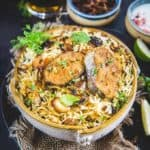 Fish Biryani is a flavorful mix of rice, spices and fish. Do try this simple and easy to make this authentic recipe. I am sure you will love it.