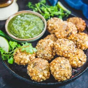 Sabudana Vada often known as Sago Vada is a deep fried Maharashtrian appetizer which makes for a very good evening snack or breakfast.
