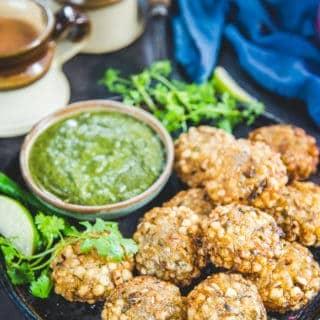Crispy Sabudana Vada (Vegan, Gluten Free)