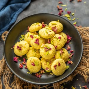 Sandesh Sweet is a popular Bengali mithai that is made using freshly made paneer or chenna. Make it at home using my simple recipe.