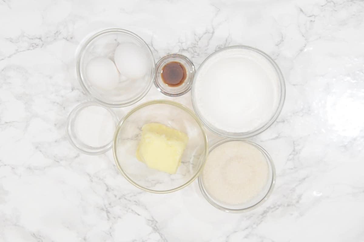 Madeleines Ingredients