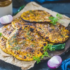 Missi Roti is Chickpea flour flat bread which is a Punjabi speciality and is mostly made during winters in tandoor or clay oven.