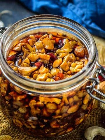 Soaking fruits for Christmas Cake is best done 6-7 weeks prior to making the cake. Learn how to soak fruits at home to make the best christmas fruit cake.