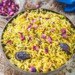Zarda Pulao or Meethe Chawal is a sweet rice preparation, deliciously infused with cardamom and saffron, a family favorite.