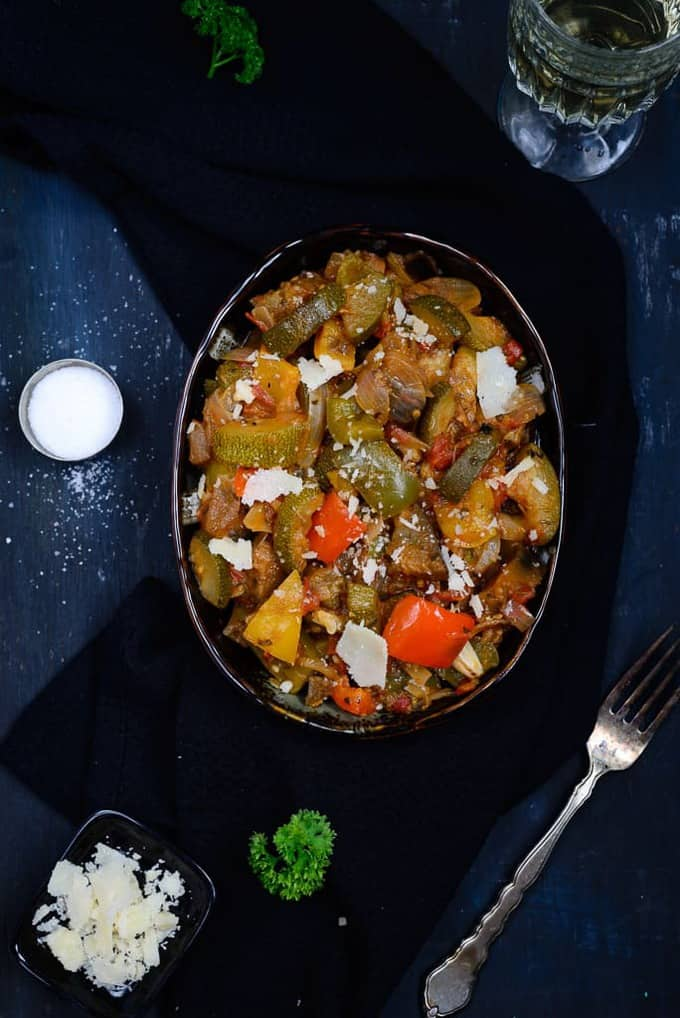 Ratatouille - Vegetables Cooked in a Tomato Based Sauce - Whisk Affair