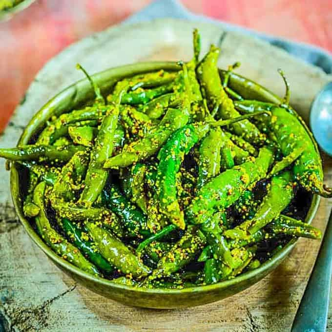 Image result for green chilli pickle