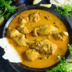 Kori Rotti Recipe (Mangalorean Chicken Curry) is a tasteful dish made using chicken and coconut milk.