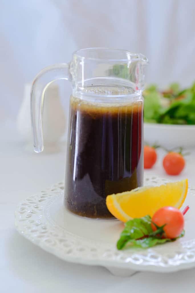 Asian orange ginger salad dressing is a healthy salad dressing ...