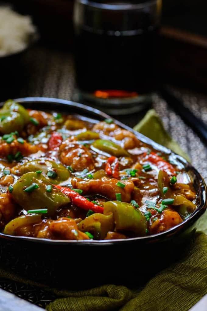Chilli Garlic Chicken Recipe, How to make Chilli Garlic Chicken