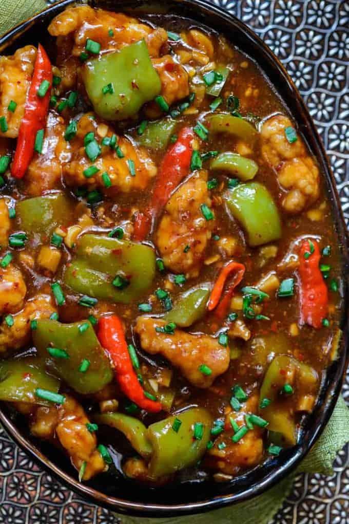 Garlic chilli chicken recipe chinese