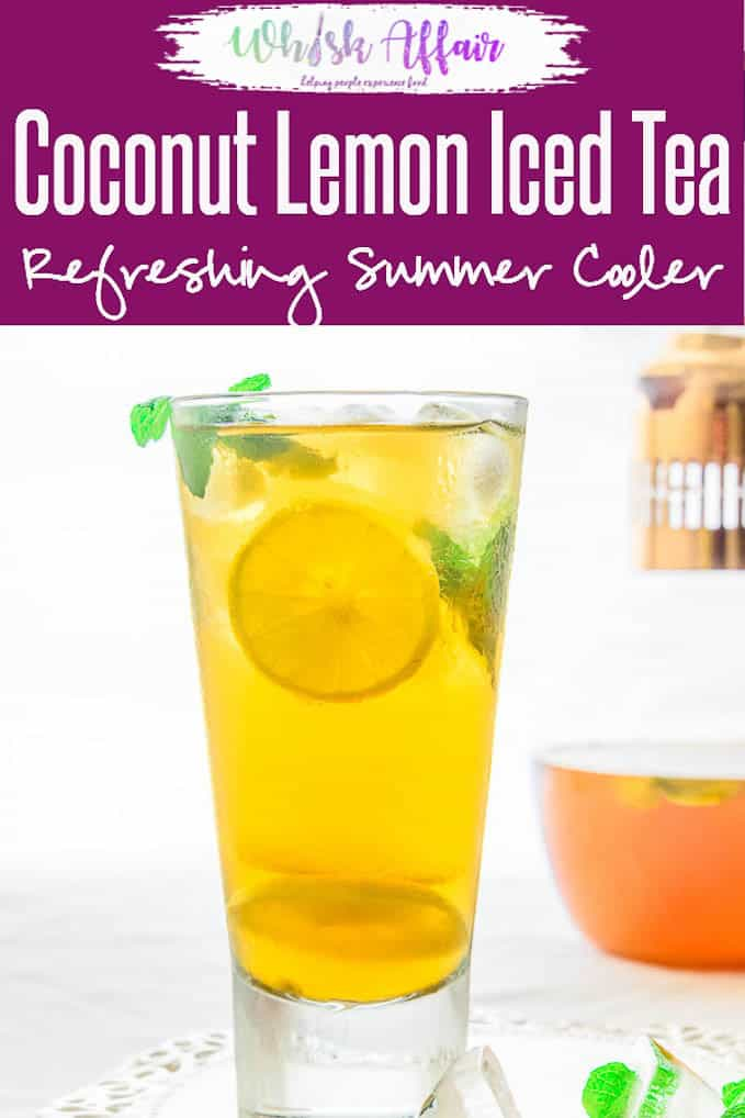 Coconut Lemon Iced Tea is a refreshing beverage perfect for the summers. Here is a simple recipe to make it at home using simple ingredients. #Tea #Drink #Coconut