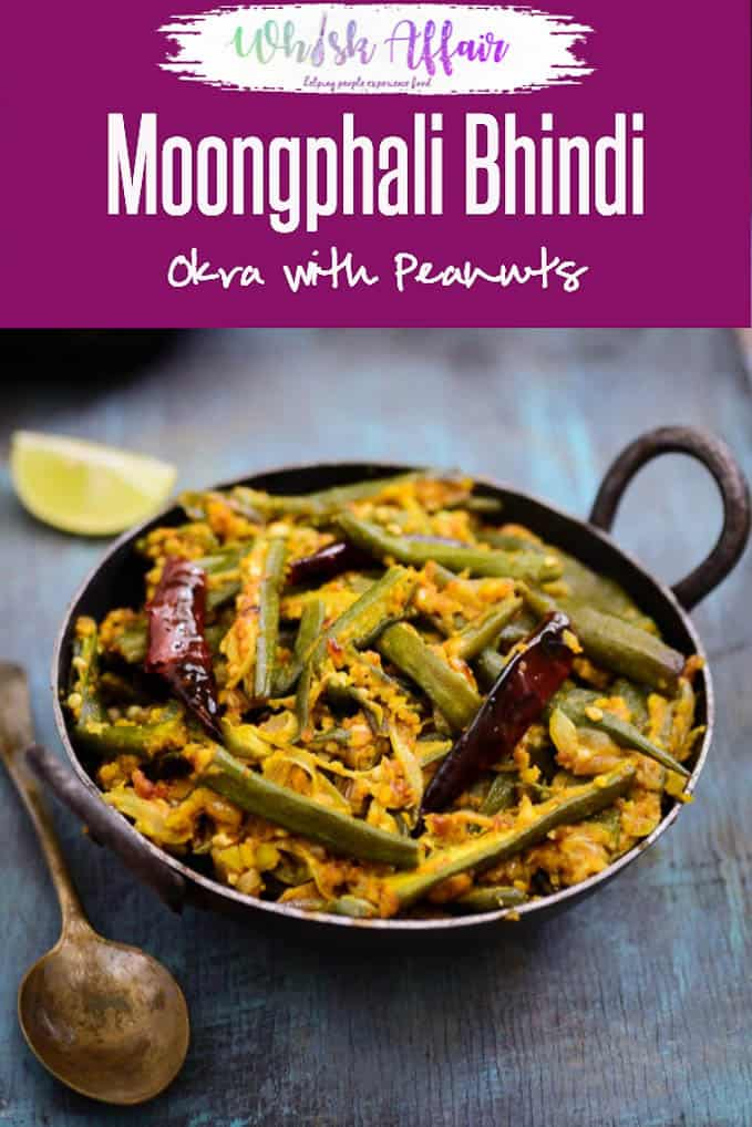 Moongphali Bhindi is a dry lady's finger recipe where they are are cooked with peanuts. Try this delicious and different dish and you will surely love it. #Okra #Recipe #Indian