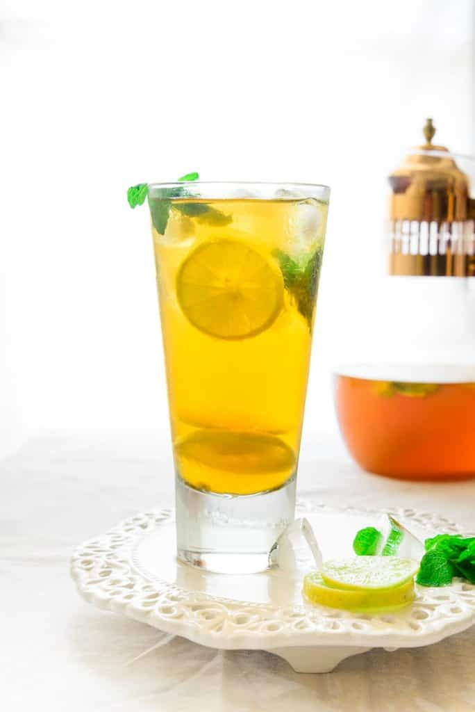Coconut and Lemon Iced Tea