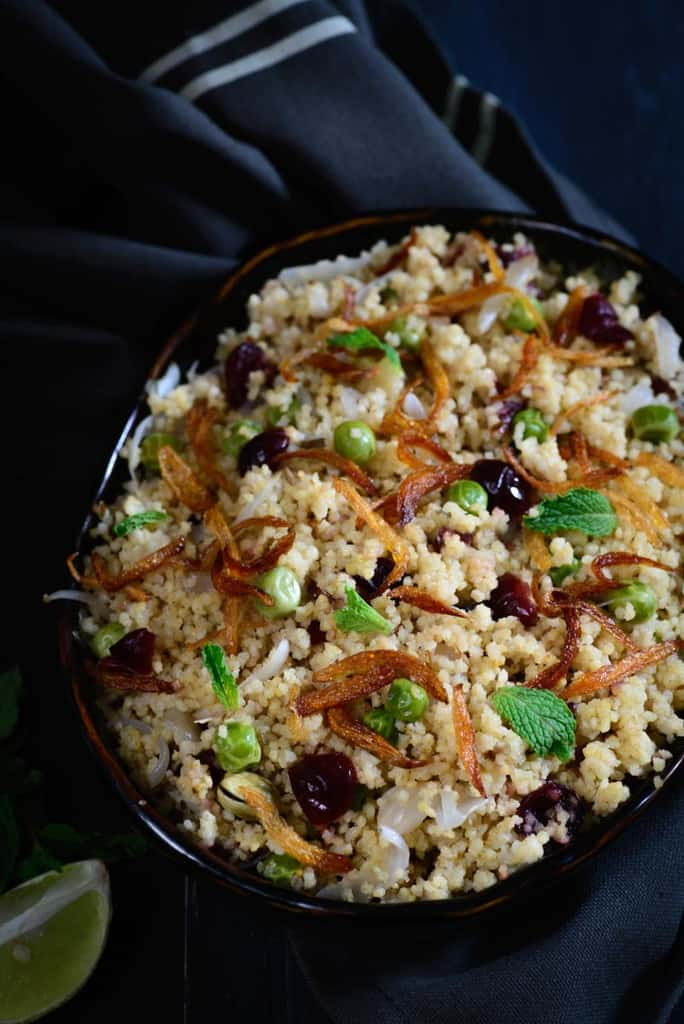 Foxtail Millet and Berry Pilaf