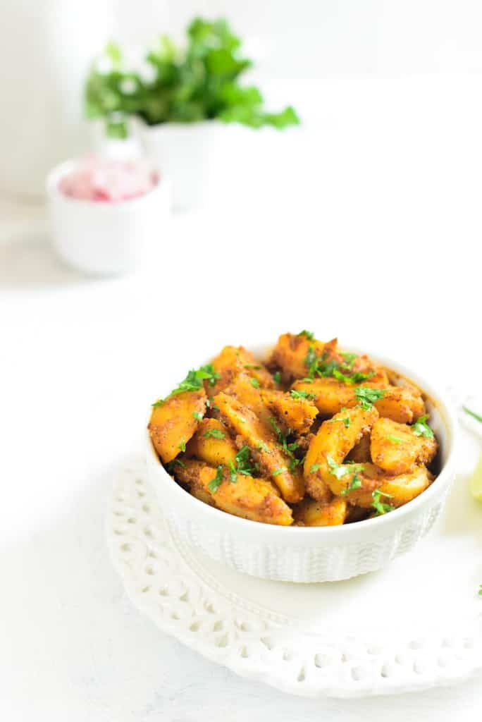 Achari Aloo / Potato in Pickle Masala – Video Recipe
