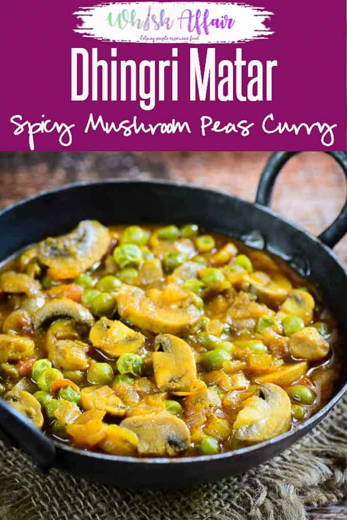 Dhingri Matar or Mushroom Matar is a simple curry made using onion and tomato. It goes very well with any Indian Bread. Here is how to make it. #Mushroom #Curry #Indian