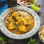 Methi Chicken or chicken curry with fenugreek leaves is a hearty spicy Chicken Curry with a nice flavour of fresh fenugreek leaves coming through in every bite. Here is how to make this Fresh Methi Chicken.