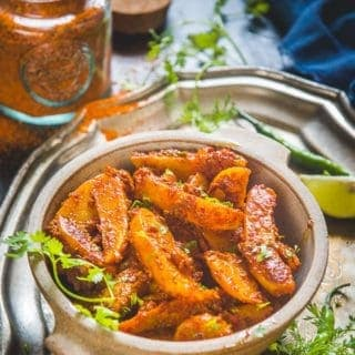 Achari Aloo Recipe (Potatoes in Pickle Masala)