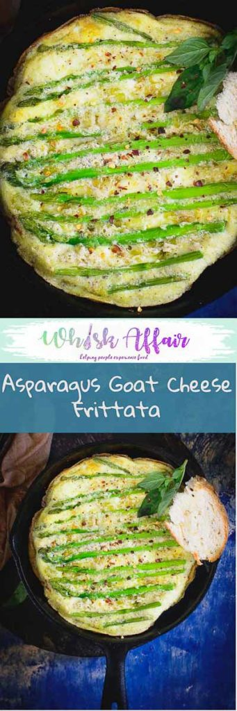 Asparagus Goat Cheese Frittata is a healthy and delicious option for breakfast. Easy and quick to make, it will definitely make an impression. #Egg #Breakfast #Recipes
