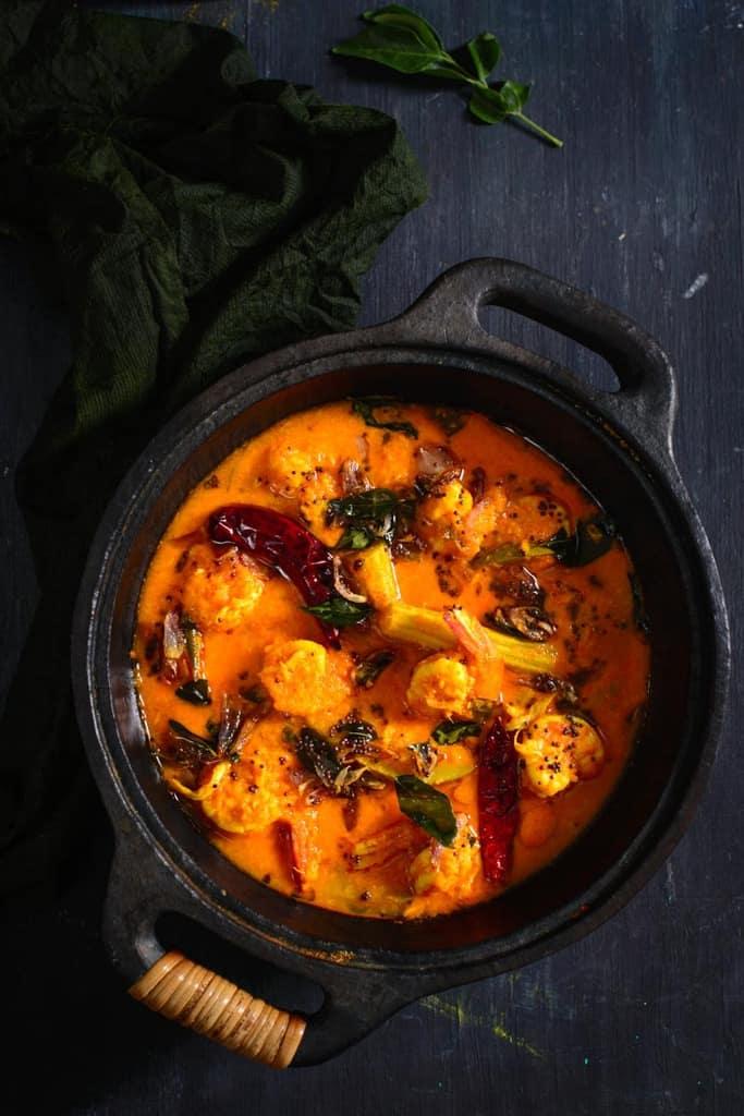 Kerala Drumstick and Raw Mango Prawns