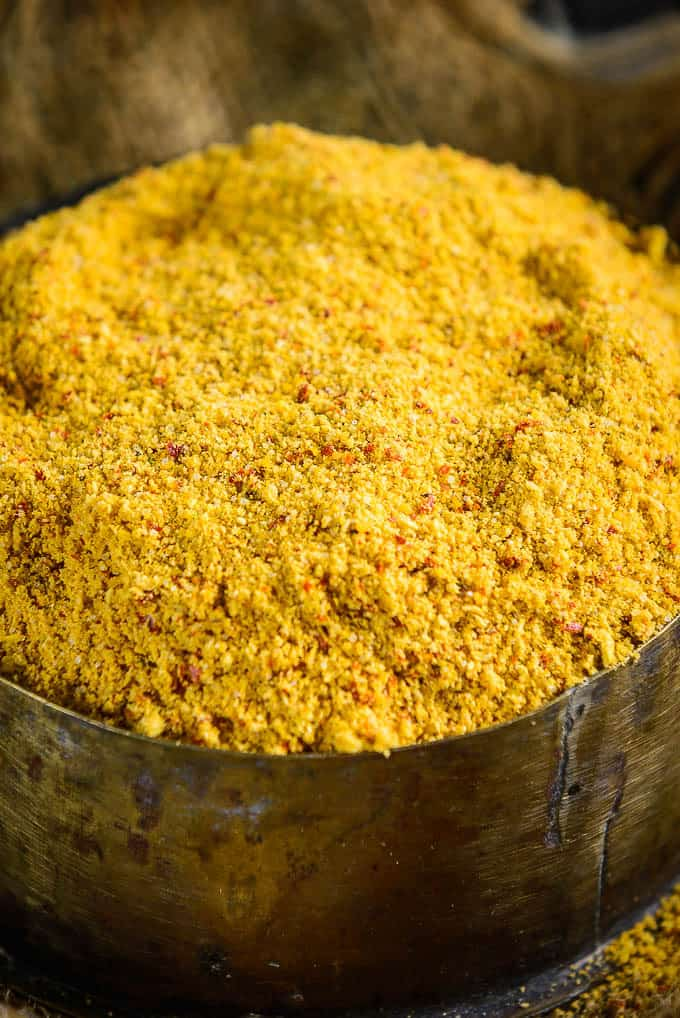 Close up shot of Idli Podi Recipe. How to make Idli Podi.