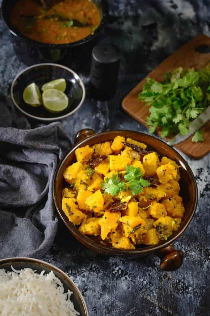 Khatta Meetha Kaddu recipe is a simple everyday Indian vegetarian dish made using pumpkin. It goes very well with paratha or Poori. Read its recipe.