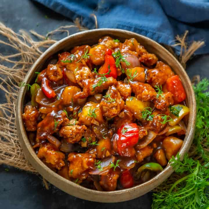 This Sweet and Spicy Mango Chicken is a very popular dish when it comes to Asian cuisine. It is a delicious combination of fried Chicken, ripe Mangoes, Onions, and Bell Pepper. Here is how to make it.