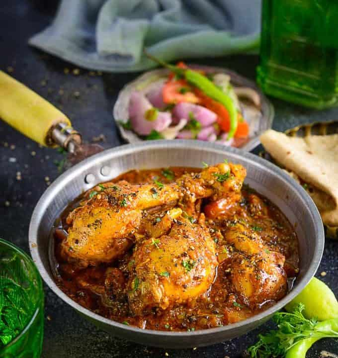 Chettinad Pepper Chicken Fry served in a bowl.