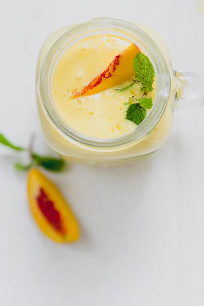 Loaded with the goodness of mangoes and peaches, this Mango Peach Shake is a great way to start your day.