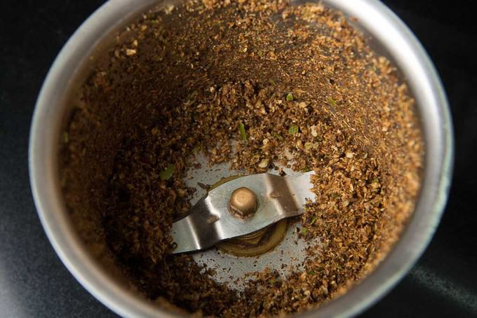 Ground spice mix