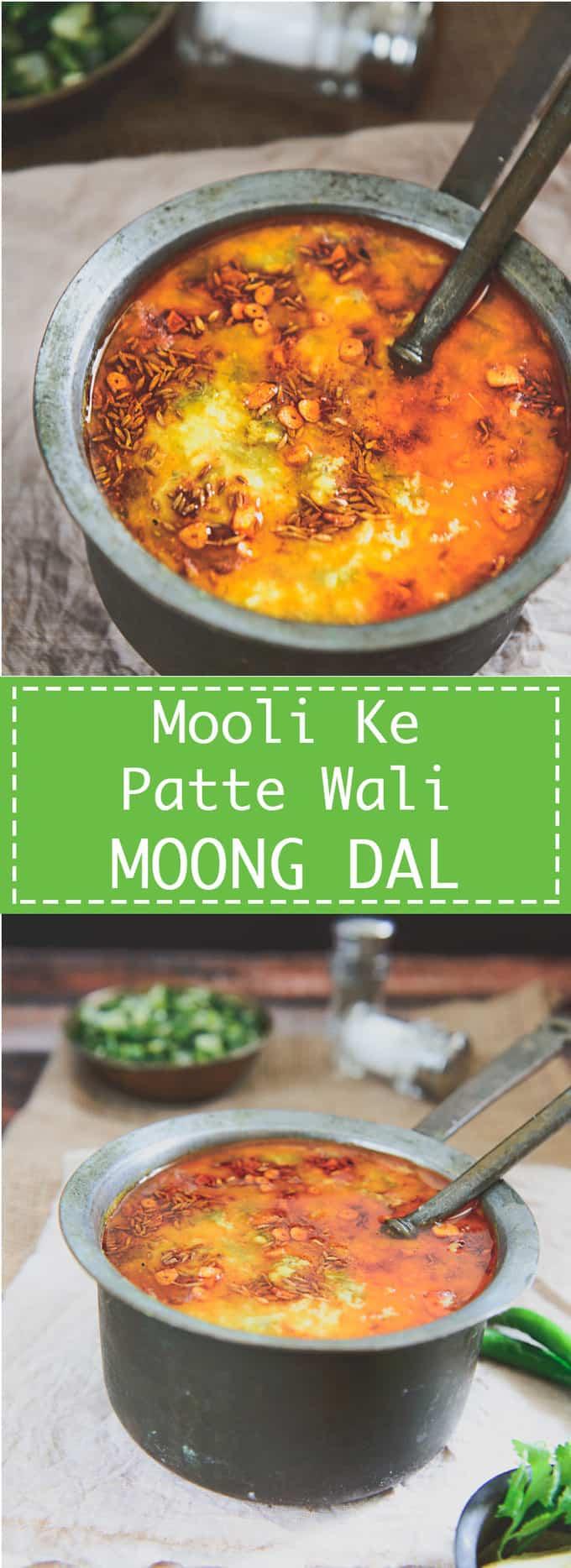 Mooli Ke Patte Wali Moong Dal