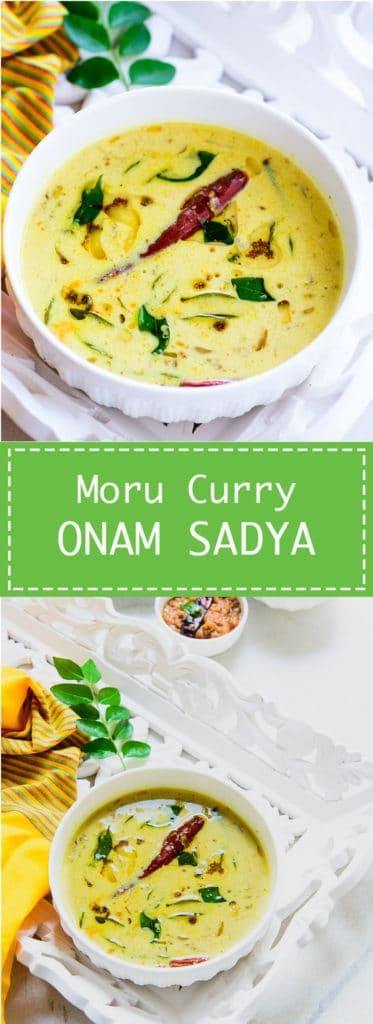 Moru Curry is Kerala style seasoned buttermilk which is served as a part of Onam sadya. It is very quick and easy to make.Indian I Curd I Yogurt I Buttermilk I Tempered I Easy I Simple I perfect I Onam I Sadya I Kerala I
