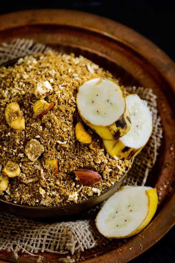 Dhaniya Panjiri is a falahari dish especially made for Krishna Janamashtami as Prashad. Here is how to make this delicious Dhaniya Ki Panjiri.