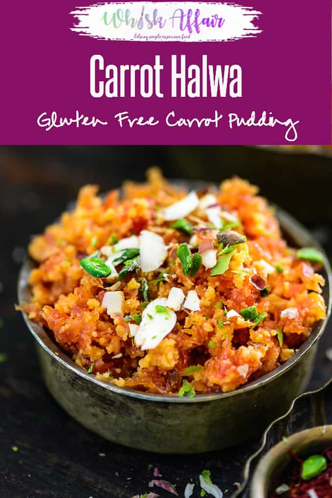 Gajar Ka Halwa or carrot halwa is a traditional Indian sweet or dessert made with fresh red carrots, milk and sugar. It's a winter delicacy. #Indian #Dessert #Sweet