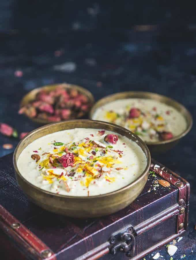 Lauki ki Kheer served in a bowl.