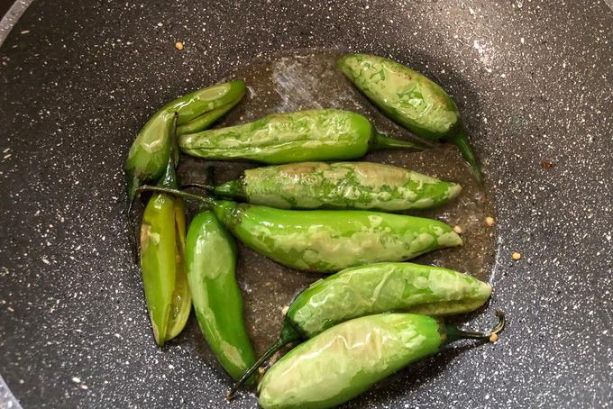 Fried chillies.