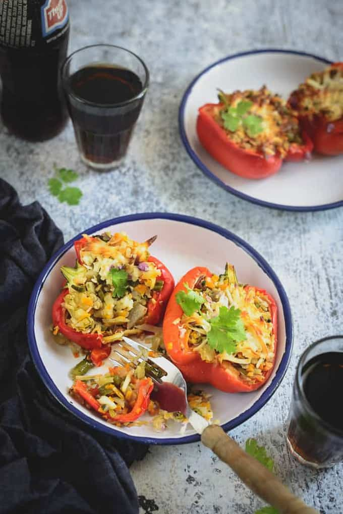 Mix vegetable stuffed peppers