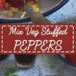 Mix Veg stuffed peppers