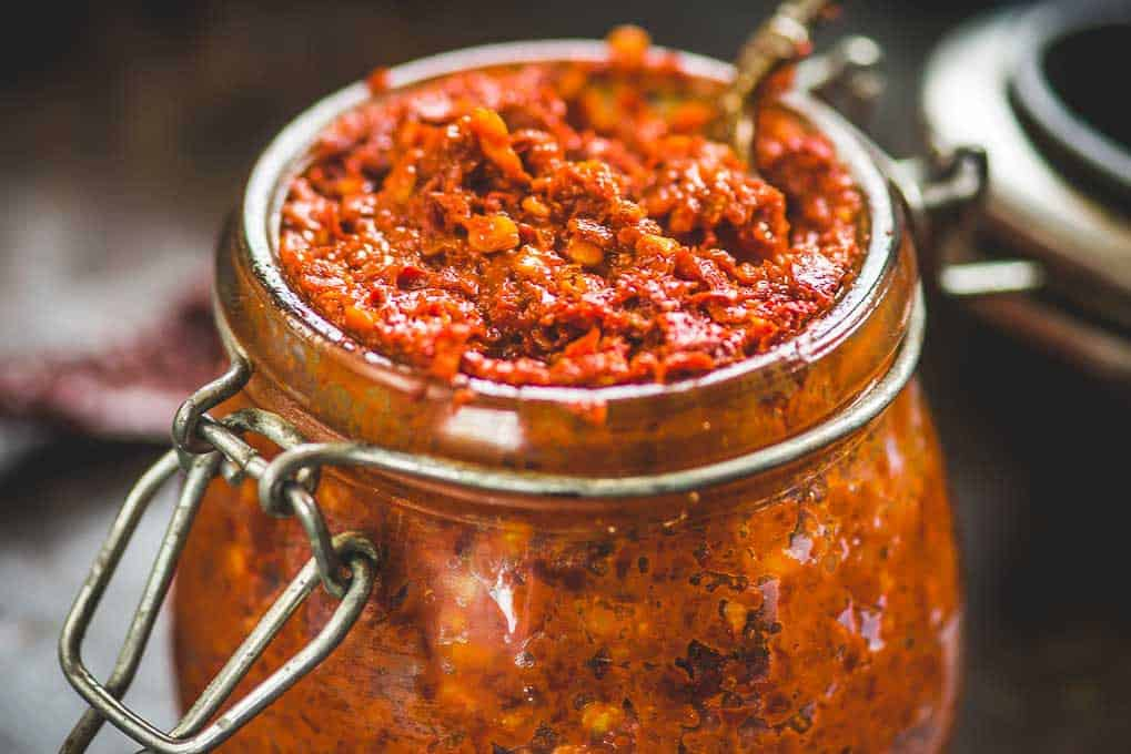 Asian Red Chili Paste Recipe Step By Step Video Whiskaffair