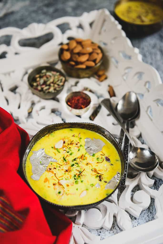 Made from Sweet Potato, Milk and sugar, Sweet Potato Kheer Recipe is a delicious Indian sweet or dessert which is perfect to serve for festivals or any special occasion. It is also gluten-free and can be served for Falahar
