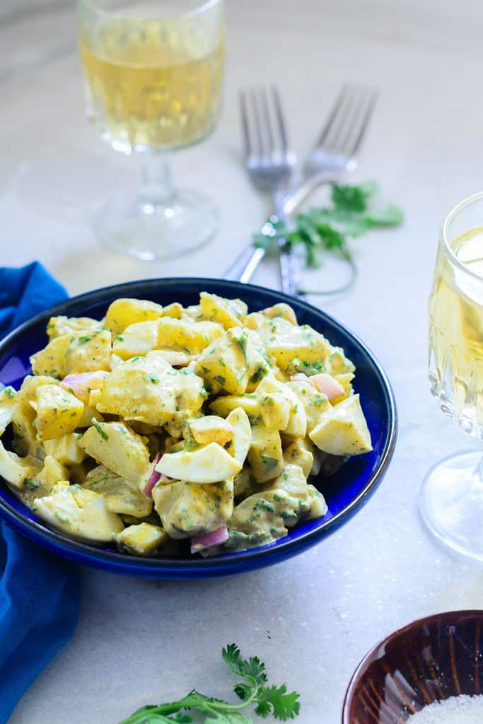 The Texas Potato Salad is another way potatoes can be used. An unusual ingredient in this salad,it lends delicious softness to the dish with sauces.