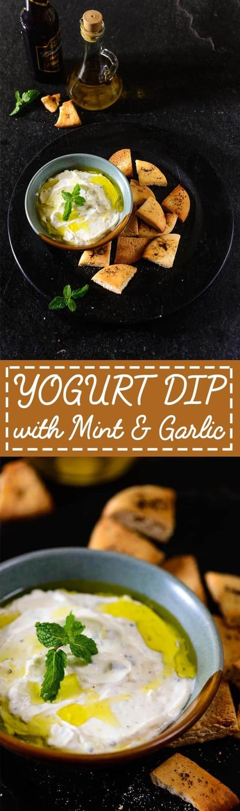 Yogurt dip with Mint and Garlic